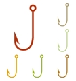 Fishing Hook sign vector image vector image