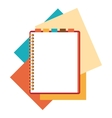 Flat design notepad with paper sheets vector image vector image
