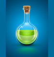 glass chemical flask vector image vector image