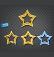gold and blue stars isolated on gray background vector image vector image