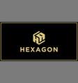 ha hexagon logo design inspiration vector image vector image