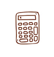 Hand Drawn Calculator vector image vector image