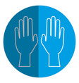hands human raised icon vector image vector image