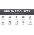 human resources simple concept icons set contains vector image