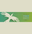 human rights web banner of people hand bird vector image vector image