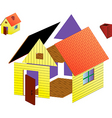 image of rural house vector image