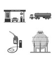 isolated object of oil and gas sign collection of vector image