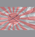 japanese silk flag and swords vector image vector image