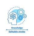 knowledge concept icon vector image