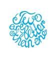 Lettering element in blue color for wedding design vector image