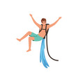 Man on flyboard extreme water sport activity vector image