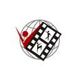 martial arts video vector image