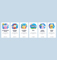 mobile app onboarding screens amusement park vector image vector image