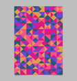 multicolor polygonal abstract triangle tile flyer vector image vector image