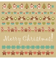 ornament collection of christmas items vector image vector image