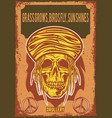 poster design with a rastas skull vector image