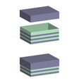 realistic boxes with lid on white background vector image