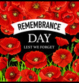 remembrance day november 11 vector image vector image