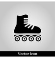 Roller skates sign icon on grey background vector image vector image