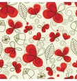 romantic floral pattern vector image vector image