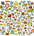 seamless pattern with elementary school elements vector image vector image