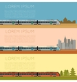 set commuter train banners vector image
