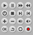 set navigation round buttons template for your vector image
