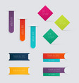 Set of colorful text box vector image vector image