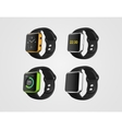 set smart fitness watches vector image vector image