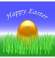 Spring Easter Card Gold Egg vector image vector image