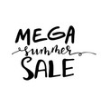 summer sale handwritten lettering typograph vector image