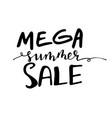 Summer sale handwritten lettering typograph