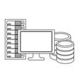 technology computing cartoon vector image vector image