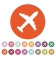 The plane icon Travel symbol Flat vector image vector image
