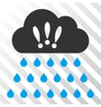 Thunderstorm Rain Cloud Icon vector image