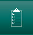 to do list icon checklist task list in flat style vector image vector image