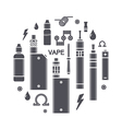 Vape icons vector image vector image