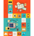 vertical audio and library online cloud vector image vector image