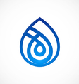 waterdrop line abstract logo vector image vector image