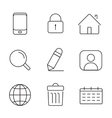 Web icons set Thin lines simple design vector image vector image