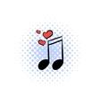 Wedding music comics icon vector image