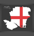 hampshire map england uk with english national vector image