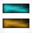 Banners with stars vector image