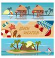 Beach Vacation Horizontal Banners Set vector image