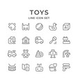 set line icons of toys vector image