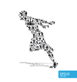 Active running man shape concept vector | Price: 1 Credit (USD $1)