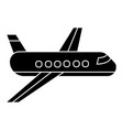 airplane - plane icon black vector image vector image