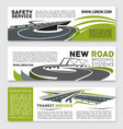 banners of safety road construction service vector image vector image