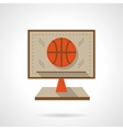 Basketball online flat color design icon vector image vector image