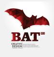bat geometric paper craft style vector image